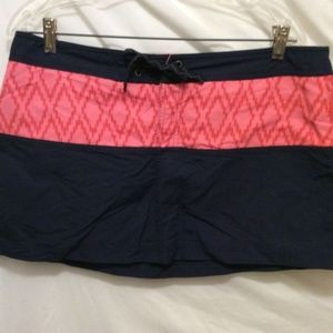 Patagonia Athletic Skirt 12 Blue Orange